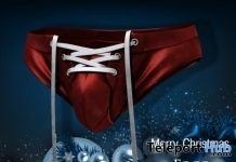 Lace-up Briefs Santa Christmas 2017 Gift by GABRIEL - Teleport Hub - teleporthub.com