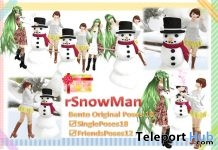 rSnowMan With Single & Friends Bento Poses Teleport Hub Group Gift by A&R Haven - Teleport Hub - teleporthub.com