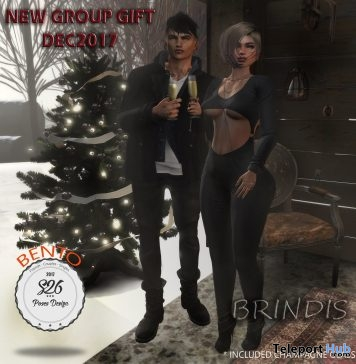Brindis Couple Bento Pose With Prop December 2017 Group Gift by S26 Pose Store - Teleport Hub - teleporthub.com