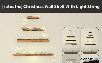 New Release: Christmas Wall Shelf With Light String by [satus Inc] - Teleport Hub - teleporthub.com