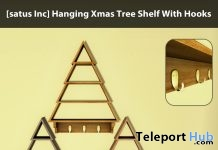 New Release: Hanging Xmas Tree Shelf With Hooks by [satus Inc] - Teleport Hub - teleporthub.com