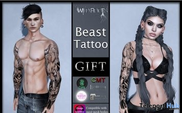Beast Unisex Tattoo D23 Event Gift by Wild Roots - Teleport Hub - teleporthub.com