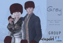 Fur Hat & Cuffs Unisex January 2018 Group Gift by Grey Style - Teleport Hub - teleporthub.com