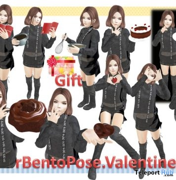 rValentine Pack of 15 Bento Poses Gift by A&R Haven - Teleport Hub - teleporthub.com