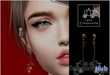 Cinderella Earrings New Year 2018 Gift by Cafe Cinderella - Teleport Hub - teleporthub.com