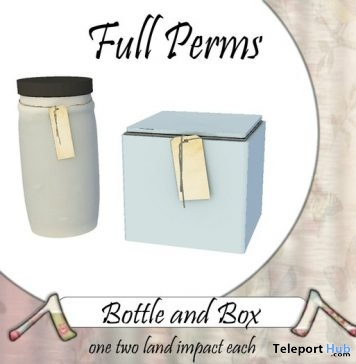 Bottles & Box With Tags Full Perm Gift by UPCYCLED - Teleport Hub - teleporthub.com