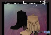 Ankle Boots For Maitreya Feet January 2018 Gift by Suenos - Teleport Hub - teleporthub.com