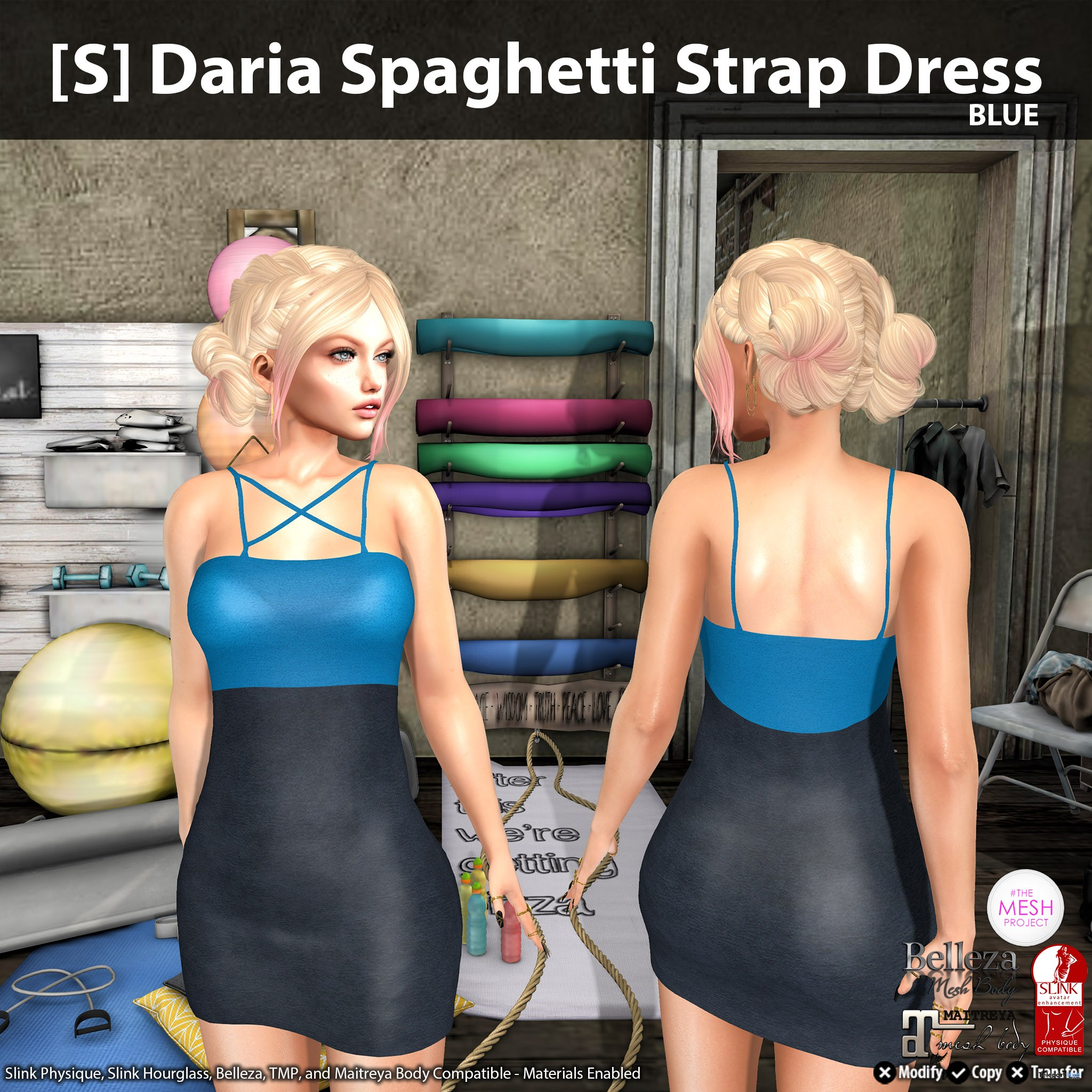 New Release: [S] Daria Spaghetti Strap Dress by [satus Inc] - Teleport Hub - teleporthub.com
