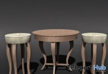 Table & Stools Set January 2018 Gift by ChiC Buildings - Teleport Hub - teleporthub.com