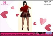 Be My Valentine Pose And Mesh Heart 10L Promo Gift by Shushimi Studio - Teleport Hub - teleporthub.com