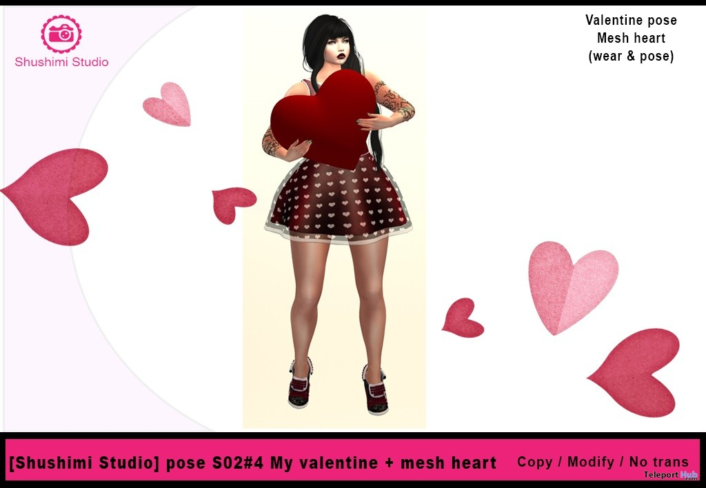 Be My Valentine Pose And Mesh Heart 10l Promo Gift By Shushimi