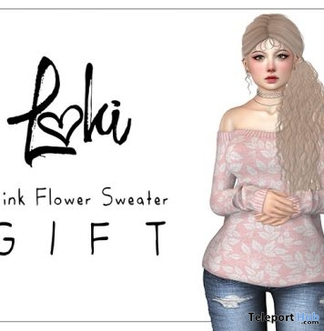 Pink Flower Sweater Gift by Loki - Teleport Hub - teleporthub.com