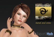 Twisted Bangles and Collar Bronze Gift by Metal and Stone - Teleport Hub - teleporthub.com