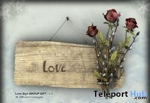 Snuggled In Love Sign February 2018 Group Gift by 8f8 Creations - Teleport Hub - teleporthub.com