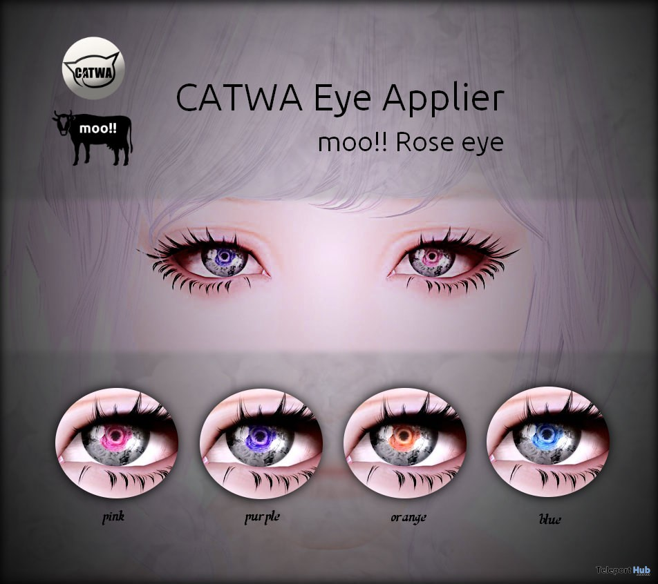 Rose Catwa Eye Applier February 2018 Gift by moo!! - Teleport Hub - teleporthub.com