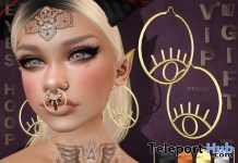 Eyes Hoop Earrings March 2018 Group Gift by Boutique #187# - Teleport Hub - teleporthub.com