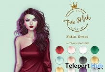 Satin Dress Fatpack February 2018 Group Gift by Tres Blah - Teleport Hub - teleporthub.com