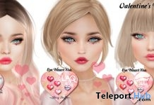 Eye Heart You Makeup Appliers For Mesh Heads Valentine 2018 Gift by Shiny Stuffs - Teleport Hub - teleporthub.com