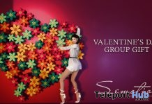 Valentine's Day Flower Heart Prop & Pose February 2018 Group Gift by SEmotion - Teleport Hub - teleporthub.com