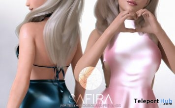 Short Dress Pink & Blue February 2018 Group Gift by Safira - Teleport Hub - teleporthub.com