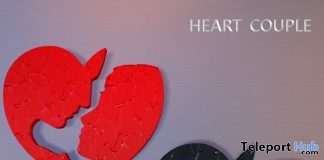 Heart Couple Wall Decor February 2018 Limited Time Group Gift by Artemis Corner Sculptures - Teleport Hub - teleporthub.com