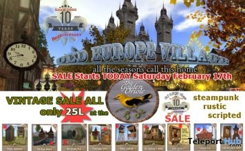 Vintage Steampunk Sale 25L Promo by The Golden Oriole - Teleport Hub - teleporthub.com