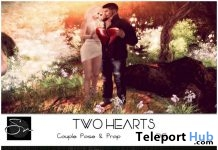 Two Hearts Couple Pose & Sorry I'm Not Sorry Single Pose February 2018 Group Gift by Something New - Teleport Hub - teleporthub.com