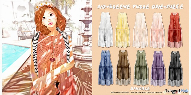 No Sleeve Tulle One Piece Fatpack 50% Off Promo by {amiable} @ N21 February 2018 - Teleport Hub - teleporthub.com