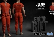 Jail Inmate Outfit March 2018 Group Gift by DUFAUX - Teleport Hub - teleporthub.com