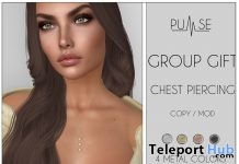 Chest Piercing March 2018 Group Gift by PULSE - Teleport Hub - teleporthub.com