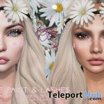 Floral Face Paint & Lashes March 2018 Group Gift by POUT! - Teleport Hub - teleporthub.com