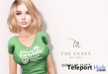 Kiss Me I Am Irish Top March 2018 Group Gift by The Annex - Teleport Hub - teleporthub.com
