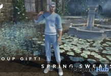 Rolled Sweat Shirt & Pants Blue And Pink March 2018 Group Gift by MUSU - Teleport Hub - teleporthub.com