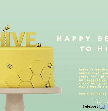 Hive's Bee Day Cake 4th Anniversary Group Gift by hive - Teleport Hub - teleporthub.com