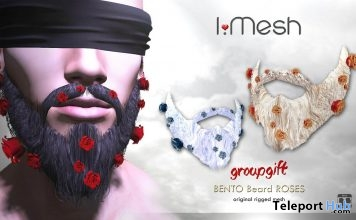 Roses Beard March 2018 Group Gift by i.mesh - Teleport Hub - teleporthub.com