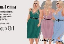 Brooke Summer Dress March 2018 Group Gift by Lupus Femina - Teleport Hub - teleporthub.com