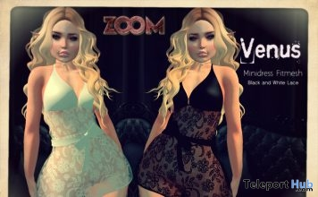 Black and White Lace Dress 1L Promo Gift by zOOm - Teleport Hub - teleporthub.com