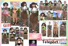 Standing Bento Pose Pack 0319 Gift by A&R Haven - Teleport Hub - teleporthub.com