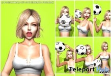 New Release: [S Poses] World Cup Soccer Bento Pose Pack by [satus Inc] - Teleport Hub - teleporthub.com