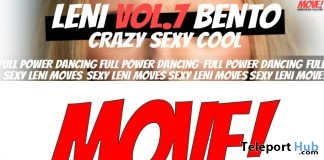 New Release: LENI Vol 7 Bento Dance Pack by MOVE! Animations Cologne
