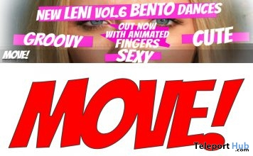 New Release: LENI Vol 6 Bento Dance Pack by MOVE! Animations Cologne - Teleport Hub - teleporthub.com