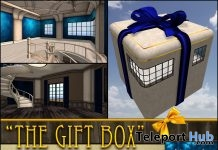 The Gift Box Blue Skybox Gift by vitamin - Teleport Hub - teleporthub.com