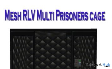 Mesh Black Metal RLV Cage March 2018 Group Gift by Carissa Design - Teleport Hub - teleporthub.com