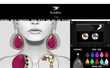 Chic Earrings 1L Promo Gift by SWALLOW - Teleport Hub - teleporthub.com