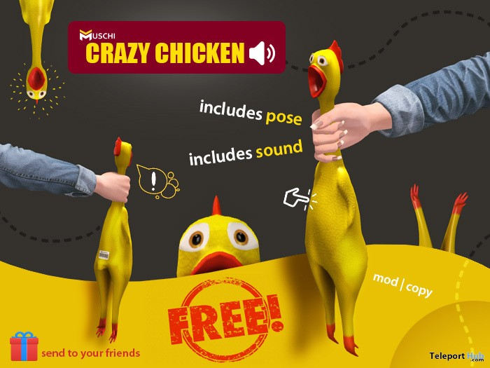 Crazy Chicken 1L Promo Gift by MUSCHI - Teleport Hub - teleporthub.com