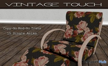 Summer Roses Porch Chair March 2018 Group Gift by The Vintage Touch - Teleport Hub - teleporthub.com