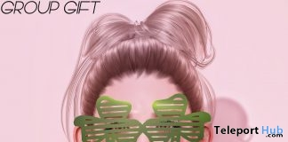 Clover Glasses March 2018 Group Gift by MS Design - Teleport Hub - teleporthub.com