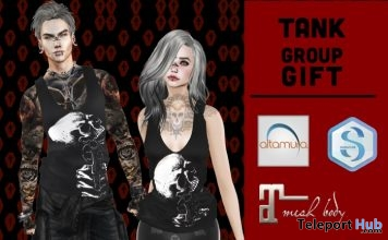 Unisex Tank Top March 2018 Group Gift by Dark&White - Teleport Hub - teleporthub.com