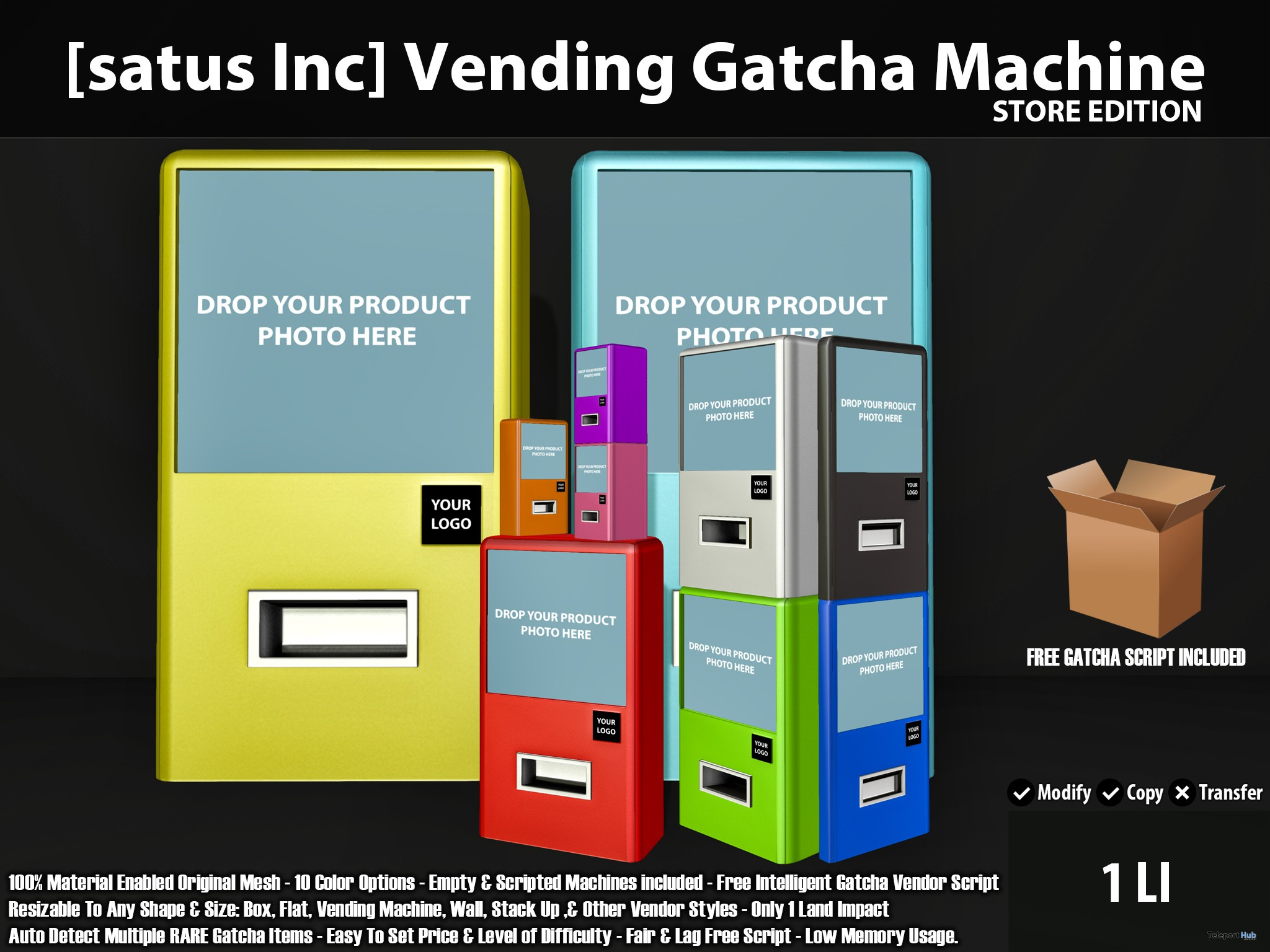 New Release: Vending Gatcha Machine Store & Event Editions by [satus Inc] - Teleport Hub - teleporthub.com