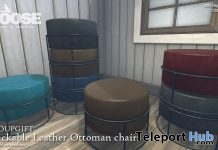 Stackable Leather Ottoman Chairs April 2018 Group Gift by GOOSE - Teleport Hub - teleporthub.com